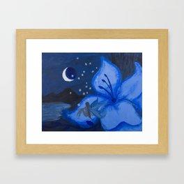 Blue Night Fairy Framed Art Print