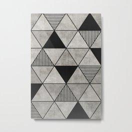 Concrete Triangles 2 Metal Print