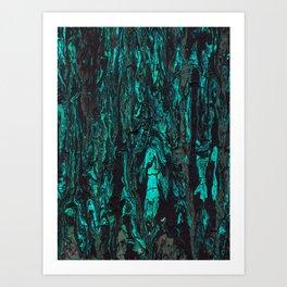 Paint texture ( cracked ) Art Print