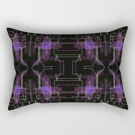Circuit board purple repeat Rectangular Pillow
