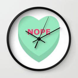 Nope Conversation Heart Wall Clock