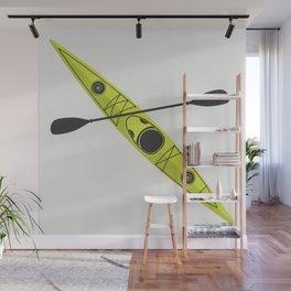 Kayak - Lime Green Wall Mural