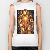iron man Biker Tanks featuring Iron man by Fathi