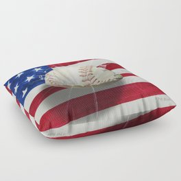 Baseball - New York, New York Floor Pillow