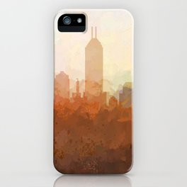 Indianapolis Skyline - In the Clouds iPhone Case
