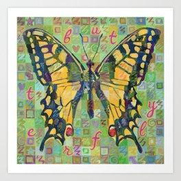 Butterfly (Swallowtail On Green) Art Print