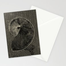 SEASHELL IN BLACK Stationery Cards