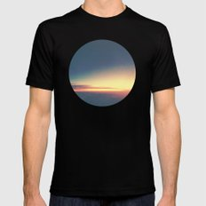 Dusk. Mens Fitted Tee LARGE Black