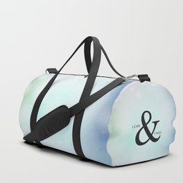 I Can & I Will Minimalist Modern Typography Quote & Dreamy Hope Abstract Soul Background Duffle Bag