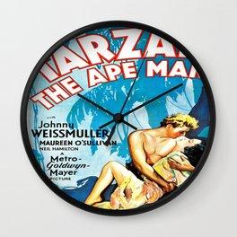 Tarzan The Ape Man Movie Poster Wall Clock