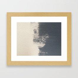 Blue shade Framed Art Print