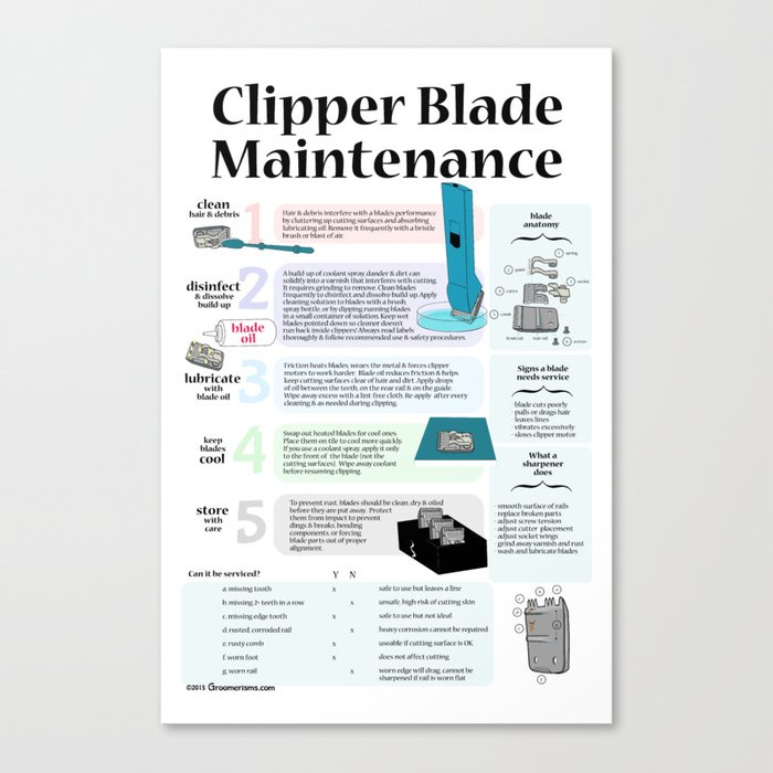 Clipper Blade Maintenance  Canvas Print