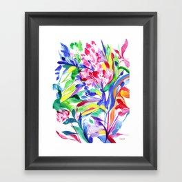 Abstract Roses 3 Framed Art Print