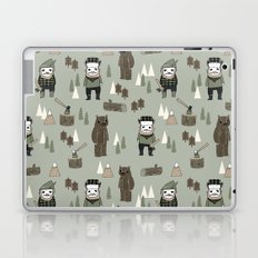 Forest lumberjack and bear nursery kids cute woodland camper gifts Laptop & iPad Skin