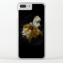 Pride - Lioness and Lion Couple Goals Clear iPhone Case
