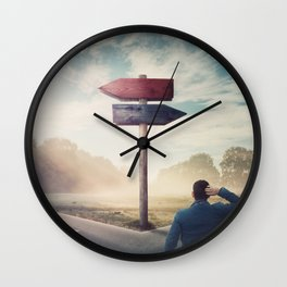 right or left? Wall Clock