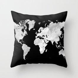 Design 70 world map Throw Pillow