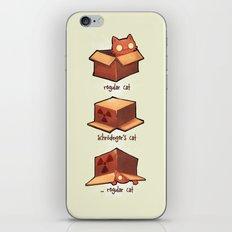 Schrödinger's cat iPhone & iPod Skin
