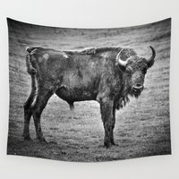 buffalo Wall Tapestries featuring Buffalo by davehare