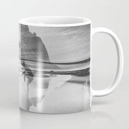 Friendship Mountain Black and White Surreal Nature Coffee Mug