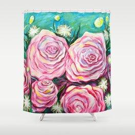May Tea Roses Shower Curtain