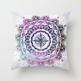 Destination Mandala Throw Pillow