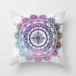 Destination Mandala Bohemian Hippie Zen Indian Spiritual Yoga Mantra Meditation Throw Pillow