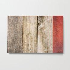 Wood, Wood, Red Metal Print