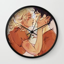percabeth kiss Wall Clock