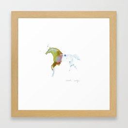 Crystal Horse Framed Art Print
