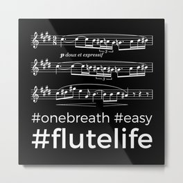 #flutelife #easy (dark colors) Metal Print