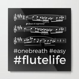 #flutelife #easy (dark colors) Metal Print