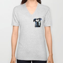 German Shepard Mix Unisex V-Neck