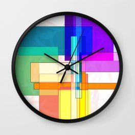 Squares combined no. 6 Wall Clock