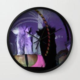 Purple horse had Wall Clock