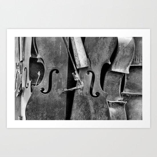 Orchestra (b/w) Art Print