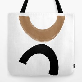 Beige and Black Collage Tote Bag