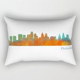 Philadelphia City Skyline Hq V1b Rectangular Pillow