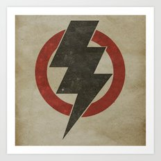 lightning strike zone Art Print