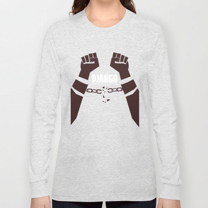 Django Unchained -  Quentin Tarantino Minimal Movie Poster Long Sleeve T-shirt