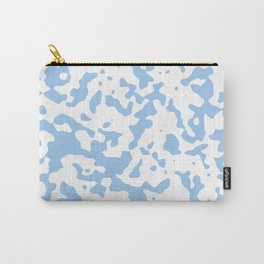 Spots - White and Baby Blue Carry-All Pouch
