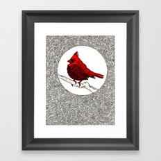 A Red Cardinal Framed Art Print