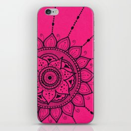 Black and Pink Mandala iPhone Skin