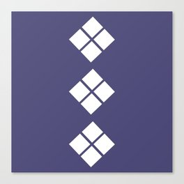 Geometrical violet white abstract ethno pattern Canvas Print
