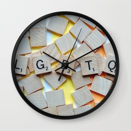LGBTQ Pride Tiles Wall Clock