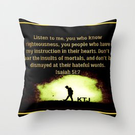 Scripture Pictures 14-02 Throw Pillow