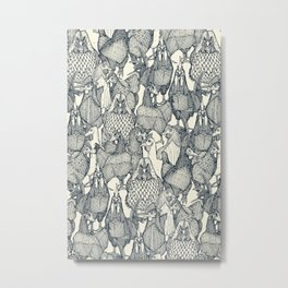 just chickens indigo pearl Metal Print