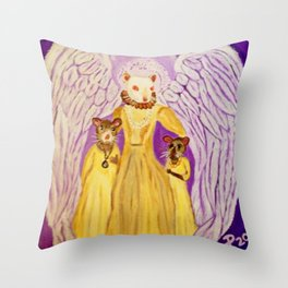 """""""Bixby - Monarch of Rodentia"""" Throw Pillow"""