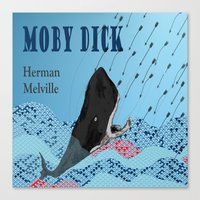 moby dick Canvas Prints featuring Moby Dick  by 2SmartCats