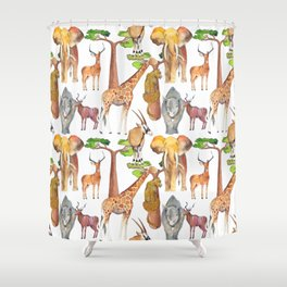 Wild Africa #4 Shower Curtain
